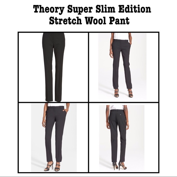 06837edb3a Theory Pants | Super Slim Edition Stretch Wool 12 | Poshmark